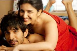 Parineeti Chopra in Red Towel Pics in Her Bollywood Upcoming Movie Shuddh Desi Romance  with Sushant Singh Rajput,Parineeti Chopra Hot Bed Scene with Sushant Singh Rajput  in Shuddh Desi Romance. Parineeti Chopra Exposing Her Hot Deep Cleavage in Red Towel  without any Clothes in Bed Scene in Shuddh Desi Romance.Parineeti Chopra Looking in hot red towel