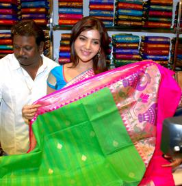 Kalanikethan Mall Launch Photos.Samantha Photos at Kalanikethan Mall Launch.Actress Samantha Launches Kalinikethan Mall Hyderabad Photos Gallery