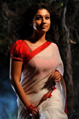 Nayantara Hot Stills in Saree, South Hot Actress Nayantara hot photo stills in white saree gallery, Nayantara hottest saree photos from KVJ movie gallery, Nayantara photo images