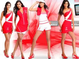 2013 Indian Grand Prix Grid Girls Uniform designed by Mandira Wirk are based on trench coats. Grid girl uniforms made from jersey Mandira Wirk are sporty & trendy.