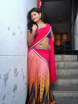 Soumya Latest Hot Navel Show Photos in Half Saree