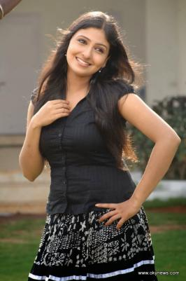 Mounika in black dress
