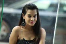 Deeksha Panth New Stills At Black is Black Event . New actress� Noothilo Kappalu Movie� fame Deeksha Panth New Stills At Black is Black Event