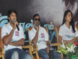 Arya and Anushka, who are busy with Selvaraghavan directed Irandam Ulagam promotions in the city attended a pressmeet regarding the same and as you guessed reporters shot some personal questions.