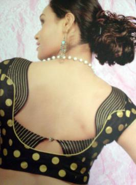 Designed Blouses And Hair Colouring