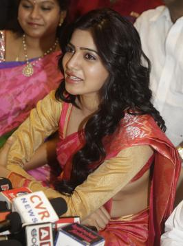 Samantha at kalanikethan showroom launch photos