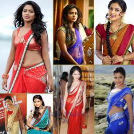 Amala Paul in Saree Hot Photos, South Hot Herione Amala Paul sensious looking stills in saree, Amala Paul hot pictures in saree, Amala Paul saree photo gallery
