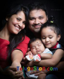 Here is the exclusive pic of Anchor Anasuya with her family and this pics is full with her husband, daughter and her newly