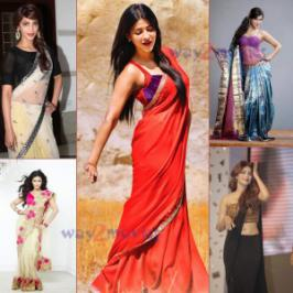 Shruti Haasan glamorous in Saree stills, Actress Shruti Haasan stunning photos
