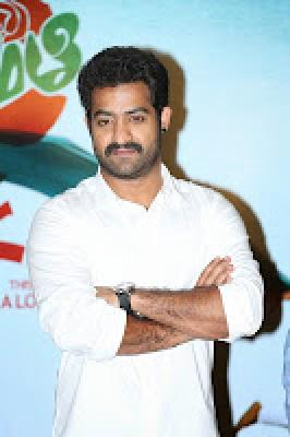 NTR Stills at Basanti Song Promo Launch,t Basanti Song Promo Launch Gallery,Basanti Song Launch Stills,NTR Basanti Song Launch Event Photos