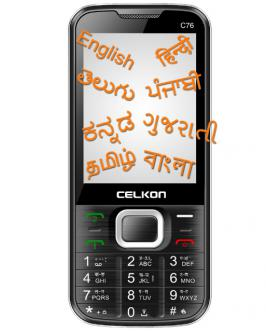 Celkon, domestic smartphone manufacturer has launched its low range feature phone C76 with a price tag of Rs. 1,899. The device supports 7 regional languages namely, Hindi, Gujarati, Punjabi, Bengali, Tamil, Telugu, Kannada.