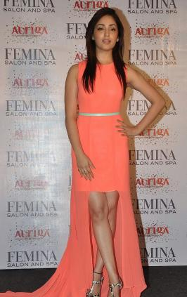 Yami Gautam Showcasing At The Launch Of Femina Salon & Spa Special Issue in Mumbai
