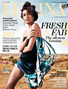 Lisa Haydon Hot & Sexy Scans From Femina India April 2014