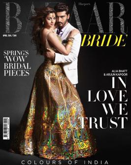 Alia Bhatt & Arjun Kapoor on Harper's Bazaar Bride April 2014 Magazine
