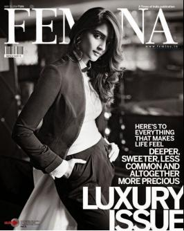 Sonam Kapoor Sizzles on FEMINA MAGAZINE LUXURY May 2014 Issue