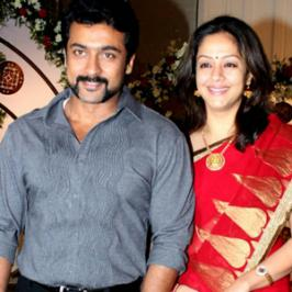 Handsome actor Suriya who has been shooting for long schedules for Lingusamy's Anjaan, flyed to US along with his wife and children to spend the summer vacation there. Suriya, who always ensures he spend quality time with family besides work is said to have taken a one month break from Anjaan shoot