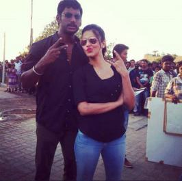 After shooting the first schedule of Vishal and Shruti Haasan starring Poojai in Chennai, film's team has now shifted to Coimbatore for one more schedule that has started recently.