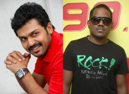 It is quite evident that the combination of actor Karthi and Yuvan Shankar Raja has delivered many box office hits earlier. Latest we hear is Yuvan will don the musician's cap for two of Karthi's upcoming films. Post their successful combo in films like Paruthiveeram, Paiyaa, Naan Mahan Alla includ
