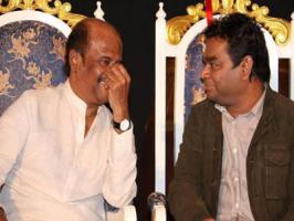 Music director AR Rahman, the Mozart of Madras has thrown a success bash for Superstar Rajinikanth, Soundarya R Ashwin and the whole Kochadaiiyaan music team celebrating the film's success.