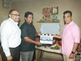 Padma Bhushan Kamal Haasan and Gauthami starring Drishyam Tamil remake is set to roll and the makers have held the formal pooja.