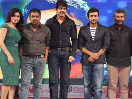 Viewers know that Suriya, Samantha starred director Lingusamy's Anjaan Telugu [Sikander] audio launch happened yesterday. SS Rajamouli of Naan Ee and Telugu actor King Nagarjuna are the chief guests for the event.