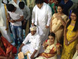 Stunning actress Trisha's marriage is been a long time buzz in the film industry and now the south Indian actress has posted a wedding pic from her upcoming movie Power.