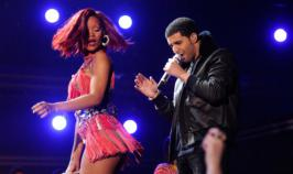 Singer Rihanna and her on-again, off-again boyfriend Drake were recently spotted flirting at a party.