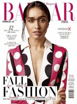 Shraddha Kapoor, Shraddha Kapoor Harper's Bazaar Photos, Shraddha Kapoor Harper's Bazaar Photo Shoot 2014, Shraddha Kapoor Harper's Bazaar 2014 Photo shoot
