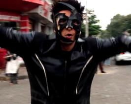 Actor Ranveer Singh lets his inner child out as he donned the avatar of Indian superhero Krrish, portrayed on-screen by Hrithik Roshan, and displayed some cr...