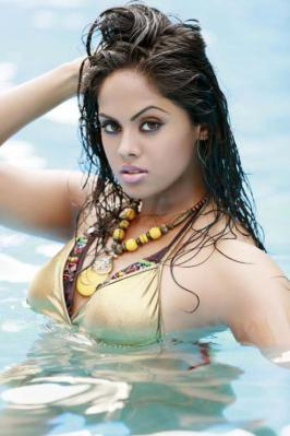 Karthika looking very hot in bikini.