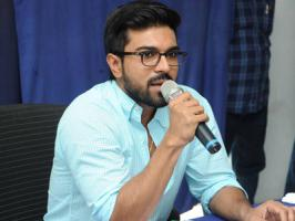 Mega powerstar Ram Charan has donated Rs. 15 Lakhs for the welfare of the victims of Hud Hud Cyclone that took Vizag and the coastal areas of Andhra Pradesh and Orissa by storm. Charan has called for a press meet this morning [Oct 14] and announced that people in and around Vizag love their films a
