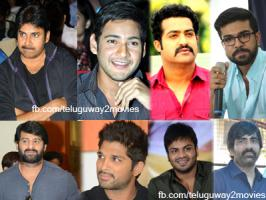 Top stars of Telugu film industry Tuesday announced donations to the Chief Minister's Relief Fund for the victims of cyclone Hudhud which battered Andhra Pradesh coast Sunday.