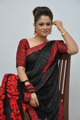 Actress Shilpa Chakravarthy at Malupu Movie Trailer Launch, Shilpa Chakravarthy Latest Saree Photos, Shilpa Chakravarthy New Gallery