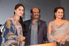 Lingaa Audio Launch Photos, Lingaa Movie Audio Launch Images, Superstar Rajinikanth Linga Songs Release Function Pics, Anushka at Lingaa Music Launch Stills