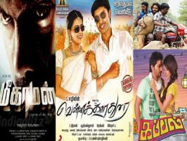 Five new Tamil films have hit the big screens on the Christmas day [Dec 25] in Kollywood. X-mas has been the new festive season for releasing new Tamil films namey : Kayal, Kappal, Meaghamann, Vellakara Durai and Endrume Anandham. Arya-Hansika starred Meaghamann directed by Magizh Thirumeni is the