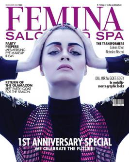Dia Mirza On Cover of Femina Salon And Spa December 2014