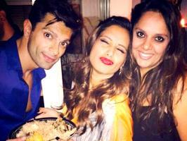 Bipasha Basu celebrates 36th birthday with Dino  Bollywood's Bong beauty Bipasha Basu yesterday celebrated her 36th birthday with her close friends and