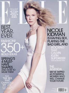 Nicole Kidman on the cover of Elle Magazine January 2015