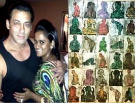 Salman Khan gifts his painting to baby sister Arpita Khan