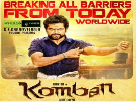 Karthi's Komban release has been advanced by a day and the movie is scheduled for grand release on 1st April.