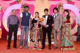 Actor Bharath Sister Wedding Reception Photos, Vishal and Kollywood Celebs at Actor Bharath Sister Marriage Reception Pics