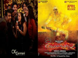 It is a real feast to Kollywood cinema lovers with the release of two most awaited films Kanchana 2 and OK Kanmani releasing today, on April 17.