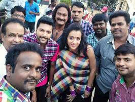 Jayam Ravi, Trisha and Anjali starring Appa Takkar is taking a fast shape in the hands of director Suraj. Appa Takkar shooting is in last leg and Trisha has completed shooting for her portions in the movie.