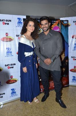 Kangna With R Madhavan promote film Tanu Weds Manu Returns