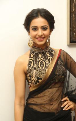 Rakul Preet Singh in Black Saree Photos, Kick 2, heroine, Review, Profile, Wiki, Recent Pics, 2015, Latest, Pics, Images