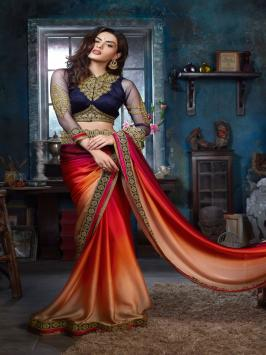 Buy designer party wear saree, marriage occasion, personal social event or any other occasion you will get all branded collection of designer sarees in all fabrics material. You can have printed saree, georgette, chiffon, silk heavy embroidery work designer saree as per the occasion you have to wear.