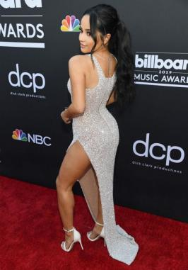 Becky G Sparkles on Red Carpet at BBMAs 2019 Singer Becky G (Rebbeca Marie Gomez) shines on the red carpet in a stunning dress at 2019 Billboard Music Awards