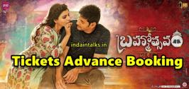 Brahmotsavam Movie Tickets Advance Online advance ticket booking has opened for Brahmotsavam Movie in both Telugu states Andhra Pradesh and Telangana. Brahmotsavam movie tickets are available on websites like BookMyShow, Easy movies.in, Ticketnew.com, Ticket Adda and JusTickets.in.