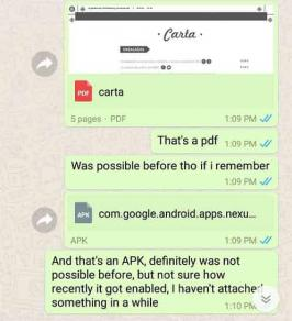 Android's WhatsApp beta users said that there has been a slight change in the manner in which the sender and the receiver both send the photo