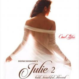 A latest poster from Raai Laxmi's Bollywood flick 'Julie 2' has set the temperature soaring, as the actress is seen in bare back which is partly covered by a tr